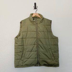 3/$25 Versatile Green Zip Up Vest w/ Side Pockets